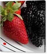 Fruit II - Strawberries - Blackberries Canvas Print