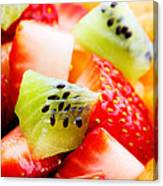 Fruit Salad Macro Canvas Print