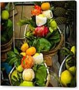 Fruit Stall In Vietnamese Market Canvas Print