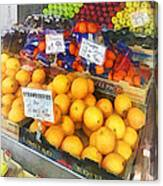 Fruit Stand Hoboken Nj Canvas Print