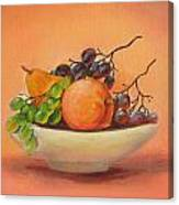 Fruits In A Plate Canvas Print