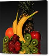 Fruity Reflections - Dark Canvas Print