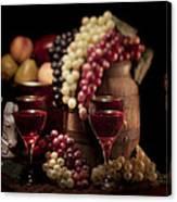 Fruity Wine Still Life Canvas Print