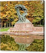 Fryderyk Chopin Statue In Warsaw Canvas Print