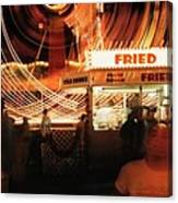 Fryeburg Fair At Night  Fried Dough Canvas Print