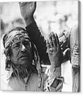 Ft. Apache Homage 1948 Ft. Apache Celebration Ft. Apache Arizona Saluting Apaches 1970 Canvas Print