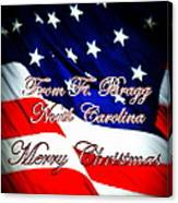 Ft. Bragg - Christmas Canvas Print