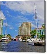 Ft. Lauderdale Canal Canvas Print