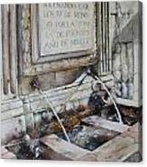 Fuente de San Martin Canvas Print