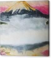 Fuji Mountain In The Fog Canvas Print