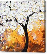 Full Bloom - White Blossoming Cherry Tree Canvas Print
