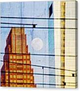 Full Moon In The City Canvas Print