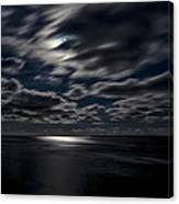 Full Moon On The Bay Of Fundy Canvas Print