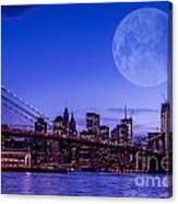 Full Moon Over Manhattan II Canvas Print