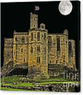 Full Moon Over Medieval Ruins Canvas Print
