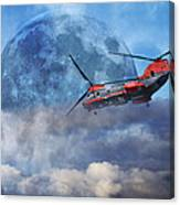 Full Moon Rescue Canvas Print
