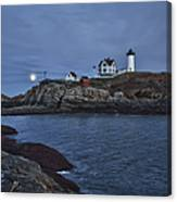 Full Moon Rise Over Nubble Canvas Print