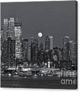 Full Moon Rising Over New York City IIi Canvas Print