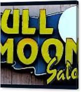 Full Moon Saloon Canvas Print