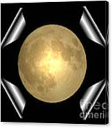 Full Moon Unfolding Canvas Print
