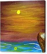 Full Moon Wolf Canvas Print