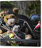 Full Throttle Teddy Bear Canvas Print