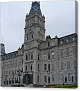 Full View Of Quebec's Parliament Building Canvas Print