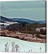 Fulmer Valley In Winter Canvas Print