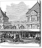 Fulton Fish Market, 1881 Canvas Print