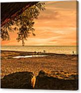 Fun At The Beach Canvas Print