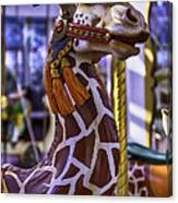 Fun Giraffe Carousel Ride Canvas Print