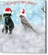 Fun Merry Christmas Card Canvas Print