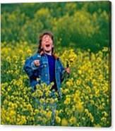 Fun Picking Flowers Canvas Print