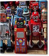 Fun Toy Robots Canvas Print