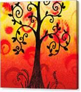 Fun Tree Of Life Impression IIi Canvas Print