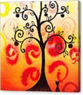 Fun Tree Of Life Impression Iv Canvas Print