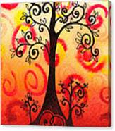 Fun Tree Of Life Impression Vi Canvas Print