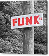 Funk Road Canvas Print