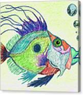 Funky Fish Art - By Sharon Cummings Canvas Print