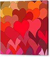 Funky Hearts Canvas Print