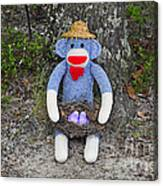 Funky Monkey - Purple Peeps Canvas Print