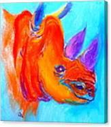 Funky Rhino African Jungle Canvas Print