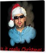 Funny Christmas Card Canvas Print
