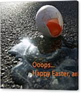 Funny Greeting Card For Easter Canvas Print