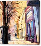 Fuquay-varina Downtown Canvas Print