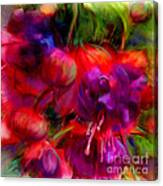 Fuschia Excitement Canvas Print