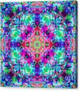 Fushia Rainbow Mandala Canvas Print