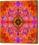 Fushia Yantra Diamond Mandala Canvas Print