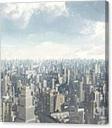 Future City Snow Canvas Print