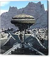 Future Pod City Canvas Print